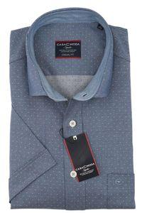 Casa Moda - Casual Fit - Herren Freizeit 1/2-Arm-Hemd in verschiedenen Farben mit Kent-Kragen (983074600A), Größe:L, Farbe:Grün (101)