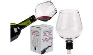 Flaschenaufsatz Weinflasche Weinglas Flaschenverschluss Glas mit Silikondichtung 1 Stück