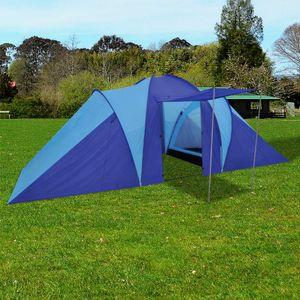 Familienzelt Kuppelzelt Campingzelt 6 Personen Marineblau