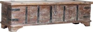 Vintage Holzbox,Holztruhe, Couchtisch, Kaffetisch aus Massivholz, Verziert - Modell 55, Braun, 40*141*40 cm, Truhen, Kisten, Koffer