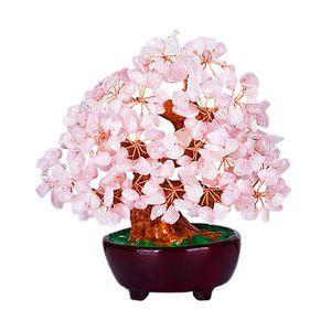 Crystal Bonsai Tree Bringing Fortune Luck Reichtum Dekorative Objekte Figurine   7 Zoll Farbe Rosa