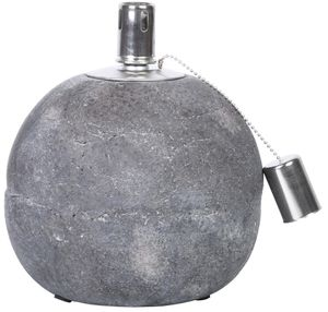Rivanto® Öllampe aus Beton, Größe L, Ø 18,2 x 21 cm, mit Docht-Abdeckung, Öl-Licht, Gartentisch-Deko, Gartenlicht