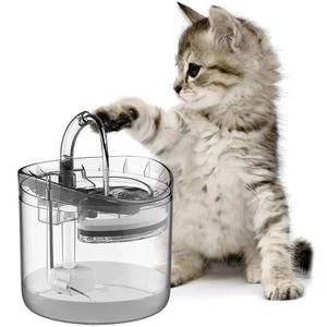 1,8L Trinkbrunnen für Haustiere mit LED-Licht Wasserspender Haustier Trinkbrunnen Hund LED Licht Leise Rutschfest Wasserspender