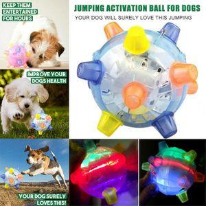 Melario Haustiere Bälle Blinkender Ball LED Licht Hundeball Katzen Aktivierung Spielzeug Blau
