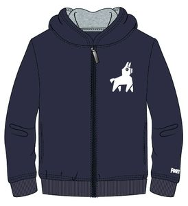 Fortnite Sweatshirt Jacke Loot Lama blau Größe 152