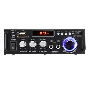 12 V / 220 V 600 Watt BT-298A 2CH LCD Display HIFI Audio Stereo Leistungsverstärker Bluetooth FM Radio Auto Home Fernbedienung