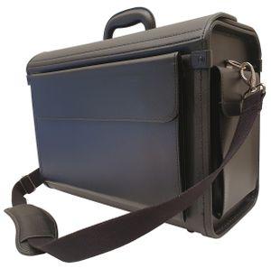 Aktenkoffer Pilotenkoffer mit Umhängegurt Dokumenten Koffer 46 cm bei Bowatex
