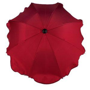 BAMBINIWELT Sonnenschirm für Kinderwagen Ø68cm UV-Schutz50+ Schirm Sonnensegel Sonnenschutz, bordeaux