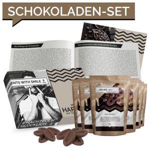 Schokolade Geschenkset 7 Schokolade aus aller Welt | Weltreise Geschenkidee Schoko Geschenkset für Frauen Männer | Schokoladen Box Geburtstags Geschenk Schokoladengeschenk geschenkkorb