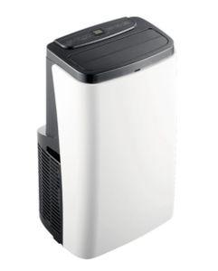 HANTECH lokale mobile Klimaanlage Klimagerät mit Abluftschlauch + Fernbedienung 12.000 BTU Farbe: weiß/schwarz bis Raumgröße 84 m³