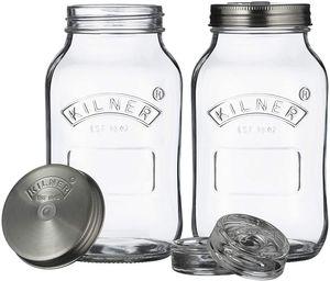 Kilner | Fermentiergläser-Set, 2er Set à 1 Liter