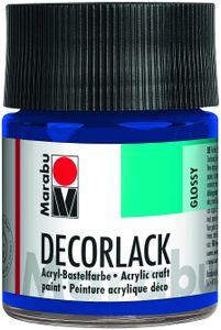 "Marabu Acryllack ""Decorlack"" mittelblau 50 ml im Glas"