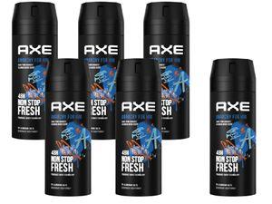 AXE Bodyspray Anarchy for Him Deo ohne Aluminium 6x 150ml Deodorant für Men Herren Männer Deospray