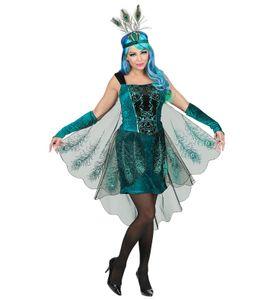 3-teiliges Pfau Damen Kostüm, Größe:M