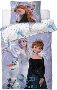 Die Eiskönigin 2 Anna Elsa Kinderbettwäsche Set 135x200 80x80 Disney Baumwolle
