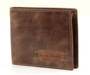 bruno banani Herren Geldbörse Portemonnaie Geldbeutel Braun/Cognac 2746