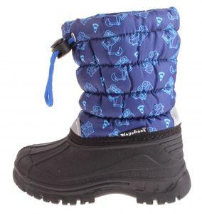 Playshoes schneeschuhe Winter Bootie Traffic Junior blau/schwarz