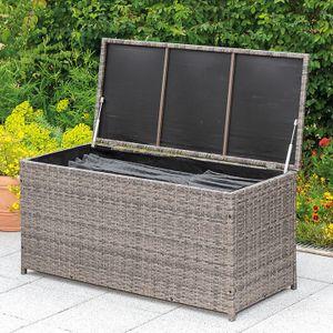 Merxx Kissenbox - Stahlgestell mit Kunststoffgeflecht - 28815-267