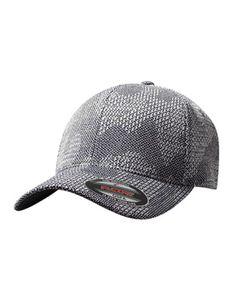 Flexfit Jacquard Knit / Schwarze Schirmunterseite - Farbe: Grey - Größe: L/XL