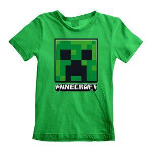 Minecraft Kinder T-Shirt 12-13 Jahre Creeper Face Grün