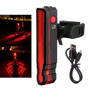 Fahrrad Fahrrad LED LED Rücklicht USB Laser Spider Rücklicht Sicherheitssignale