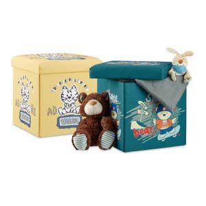 relaxdays 2 tlg. Sitzhocker Set Stauraum Sitztruhe für Kinder faltbar Deckel Spielzeugbox