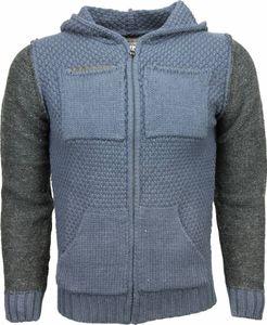 Sweatjacke - -pullover - Wolle - Blau - L