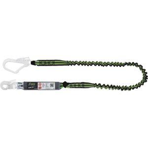 Kratos Verbindungsmittel aus elastischem Gurtband mit Falldämpfer und 2 Karabiner, 2 m, PSA, EN355
