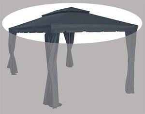 Siena Garden 727-476 Dubai Dach Pav. Dubai 3x4 100% Polyester, grau (1 Stück)