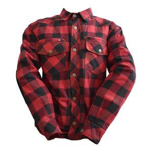 Bores Lumberjack Jacken-Hemd schwarz / rot Herren 2XL