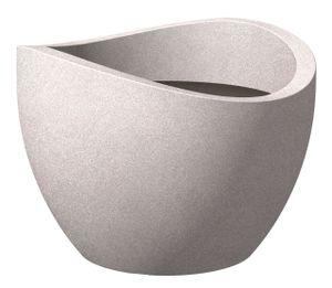 Scheurich 250/40 Pflanzgefäß Taupe Granit - 40 cm x 40 cm x 29,7 cm; 53384