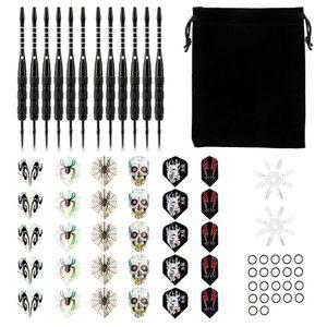 Dartpfeile mit Metallspitze, 12 Stück Steel Darts Pfeile Set, Profi Steeldarts,Ritter Dart Set