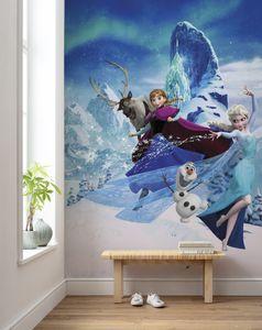 "Komar Vlies Fototapete ""Frozen Elsas Magic"" - Größe: 200 x 280 cm (Breite x Höhe), 4 Bahnen"