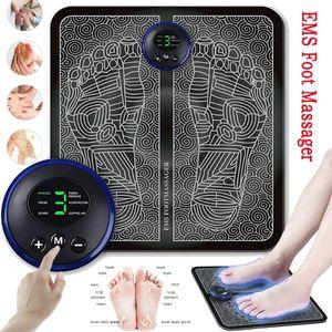 EMS Fußmassagegerät Muskelstimulator Blutkreislauf LED-Anzeigetyp Massagekissen Massage