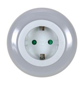 LED Steckdose Nachtlicht mit Dämmerungssensor, 3 LEDs in hell weiß, Steckdose mit Kindersicherung