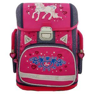 Herlitz, Spirit Pony, Schulranzen, Schulrucksack, Pink, Set inkl. Federmäppchen und Turnbeutel