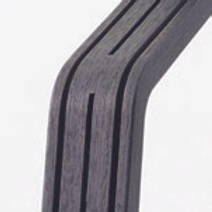 Nomi Mittelsäule für Nomi Hochstuhl, Nomi Holz Mittelsäule:Black