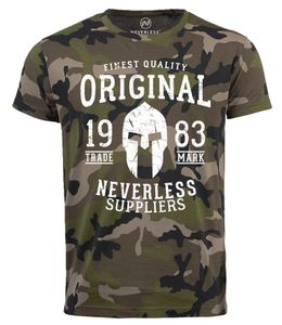 Neverless® Cooles Herren T-Shirt Original Gladiator Camouflage Camo-Shirt Tarnmuster camo XL