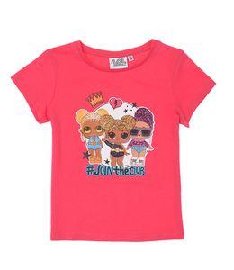 LOL Surprise Kinder Baby T-Shirt Kinder Mädchen Bluse Hellrot Gr. 122/128