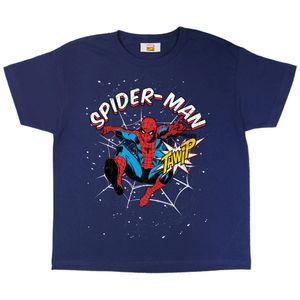 Spider-Man - Thwip T-Shirt für Mädchen PG925 (116) (Marineblau)