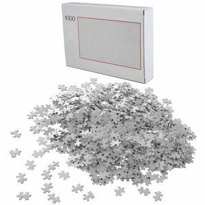 Puzzle 1000 Teile Weiß Schwer | Erwachsenenpuzzle | Premiumpuzzle Geduldsspiel | Erwachsene Knobelspiel