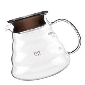 1 Stück Kaffeekanne oder 1 Stück Glastrichter Größe 600ml Kaffeekanne