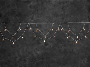 LED Dachrinnenlichterkette Bogenform 96 bernsteinfarbene Dioden IP44