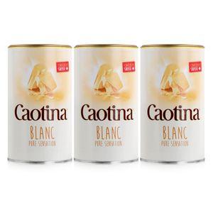Caotina Blanc Trinkschokolade - Kakaopulver mit weisser Schokolade (3er Pack)