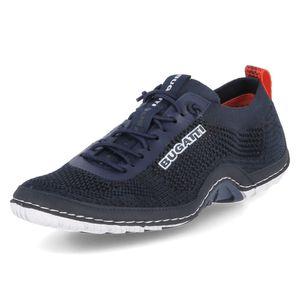 bugatti Herren Sneaker Sneaker Low Textil blau 43