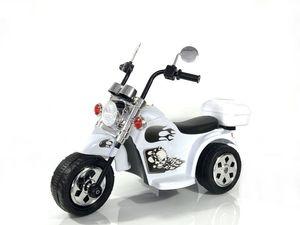 Kinder Elektro Polizei Motorrad Fahrzeug Kindermotorrad Akku Harley Motorrad Elektromotorrad , Farbe:weiß