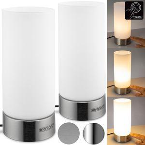 Monzana Tischlampe 2er Set Nachttischlampe Design Tischleuchte Touch 3 Helligkeitsstufen Wohnzimmerlampe Leuchte, Model:2er Set Lumo