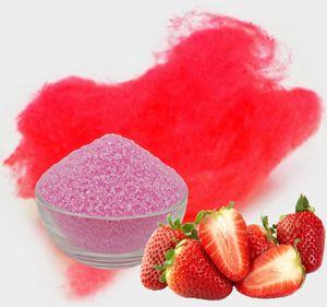 Aromazucker für bunte Zuckerwatte mit Geschmack | Erdbeer - Rot 100g | Farbzucker Zucker für Zuckerwatte Zuckerwattemaschine Zuckerwattezucker