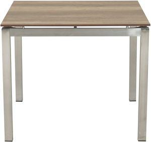 """Ploß Dining-Tisch """"Hudson"""" aus Edelstahl/HPL 90x90 cm"""