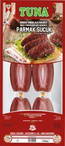 Sucuk Tuna Rinder Knoblauchwurst Türkisch - Parmak, 1000g - Mittel Scharf  Halal